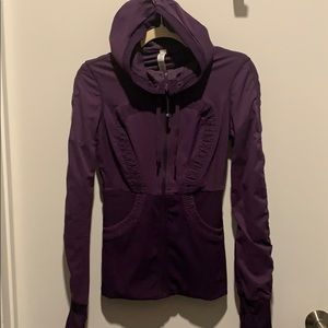 Lululemon Purple Zip Up Size 4